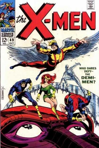 Iceman Angel Demi Men Beast Cyclops Jim Steranko Jim Steranko Classic Comic Books Marvel Comics Covers