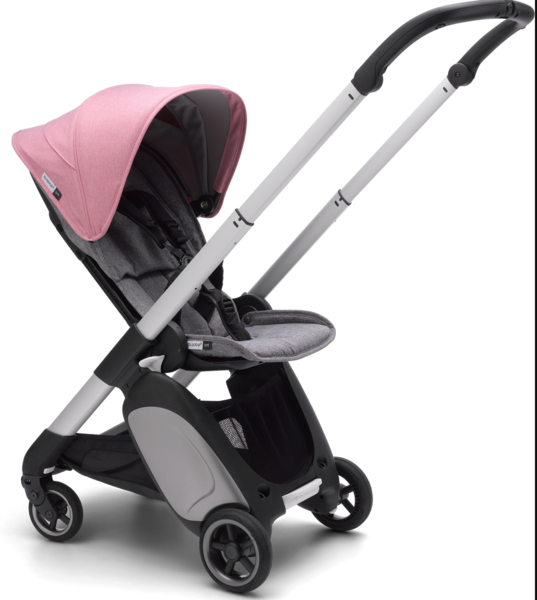 Bugaboo Ant Complete Stroller Aluminum/Grey Melange/Pink