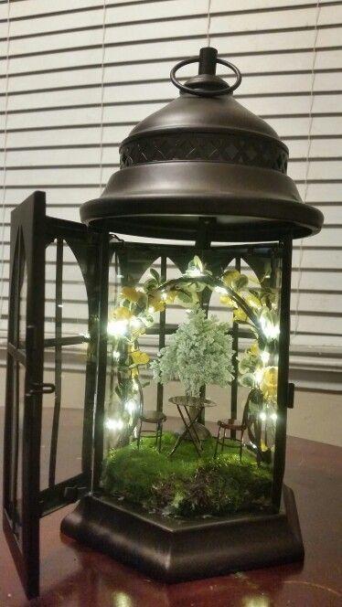 Diy Fairy Garden Lantern Garden Lantern Fairygardening Laterne Garten Diy Laternen Feengarten
