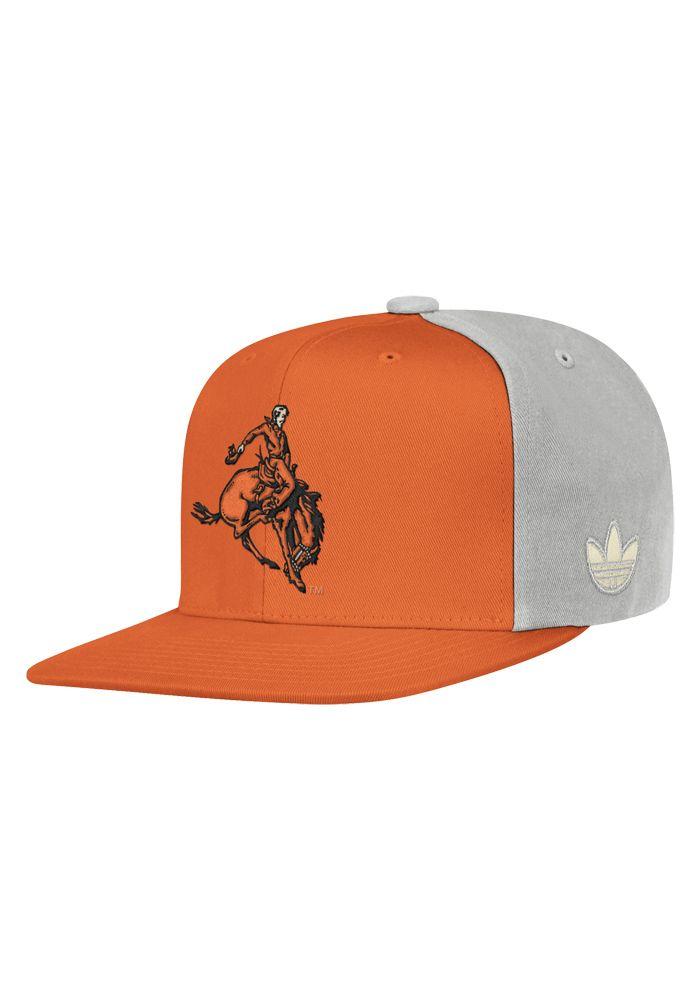 Oklahoma State Cowboys Adidas Mens Orange   Grey Retro Cowboy Snapback Hat abde12e9a16