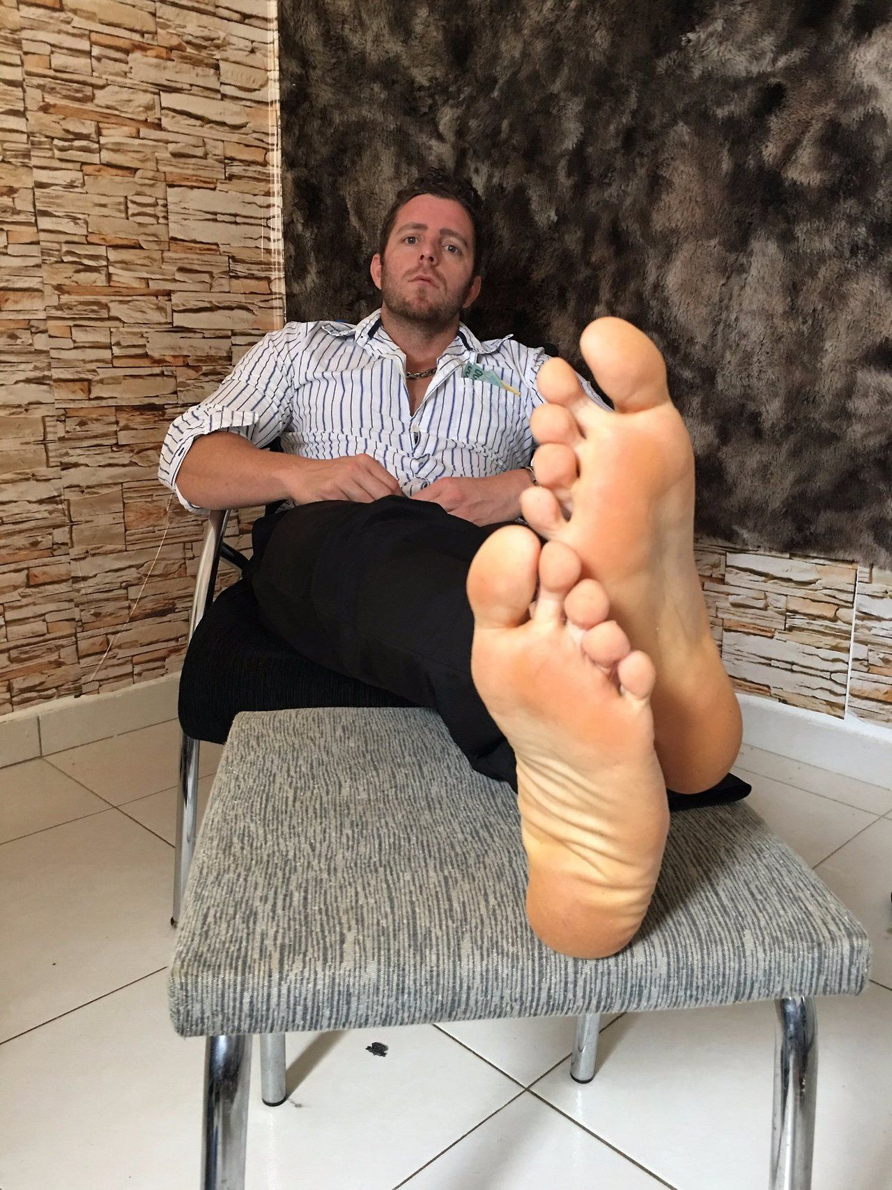 Pin Fred Flinstone Bare Feet Long Pants Suits