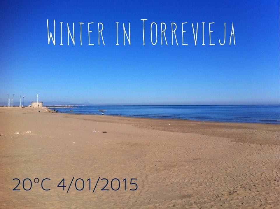 Día Primaveral En Torrevieja Hoy Desde La Playa De La Mata Spring Day In Torrevieja Today From La Mata Beach Foto Ramón S Beach Playas Costablanca