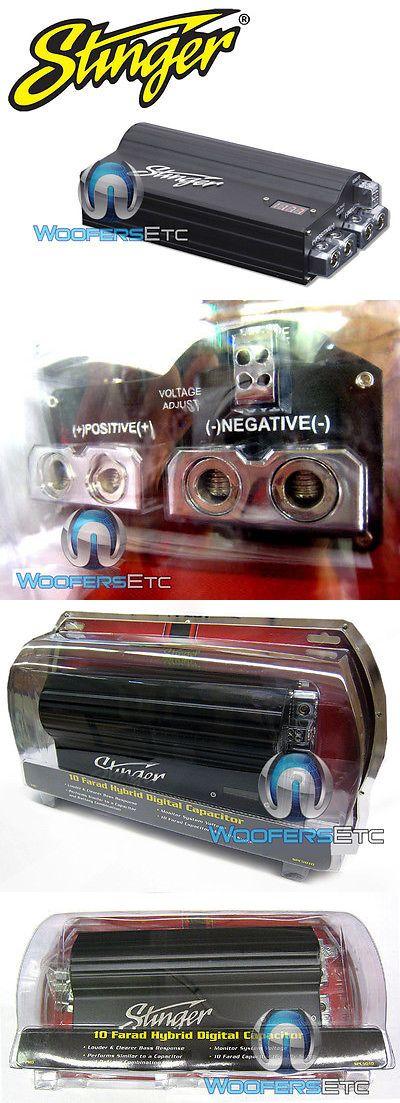 Capacitors Stinger Spc5010 Capacitor Pro Hybrid 10 Farad Digital Power Amplifier Cap New