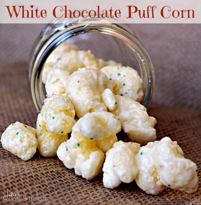 White Chocolate Covered Puffcorn