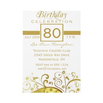 80th birthday party ideas 80th Birthday Party Invitation Wording