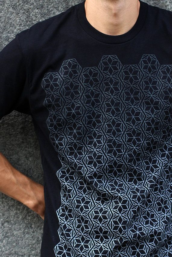 Fade to Black on Black Rythmatix Hoodie - Repeated Pattern Urban Street Wear tU3Lkdw