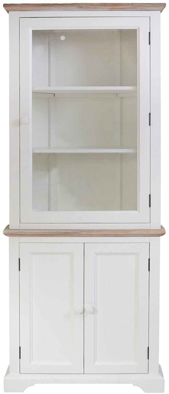 Florence Corner Display Cabinet White Glass Corner Dresser With