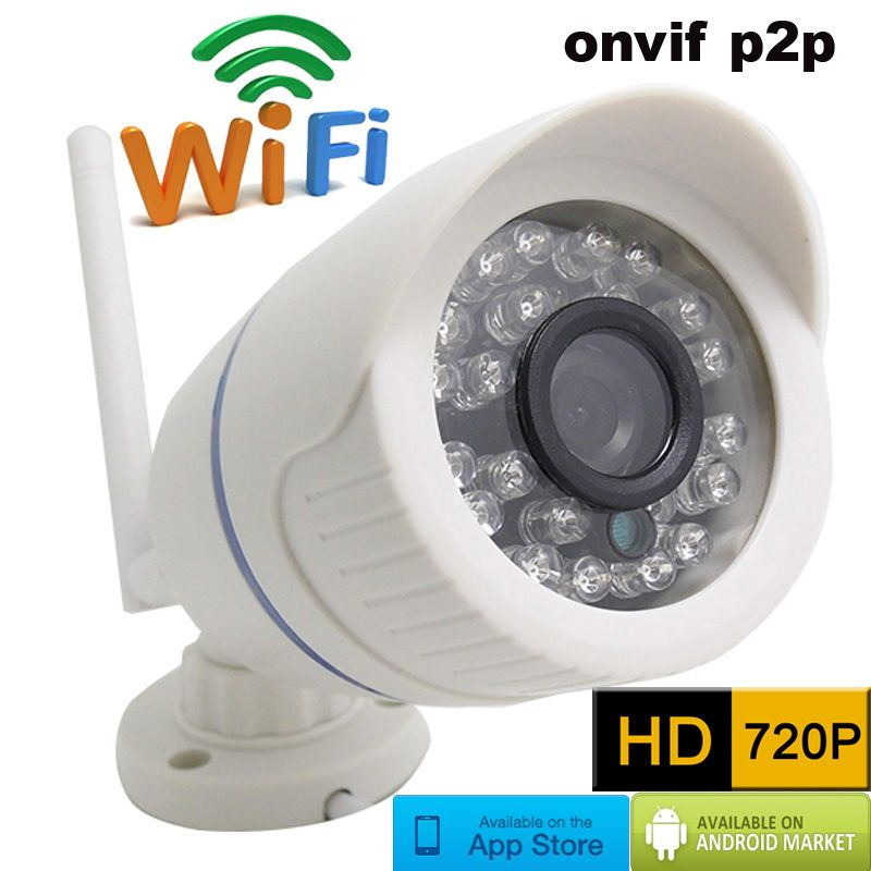 720P HD Wireless CCTV IP Camera Mini Bullet WIFI Camera Outdoor ...