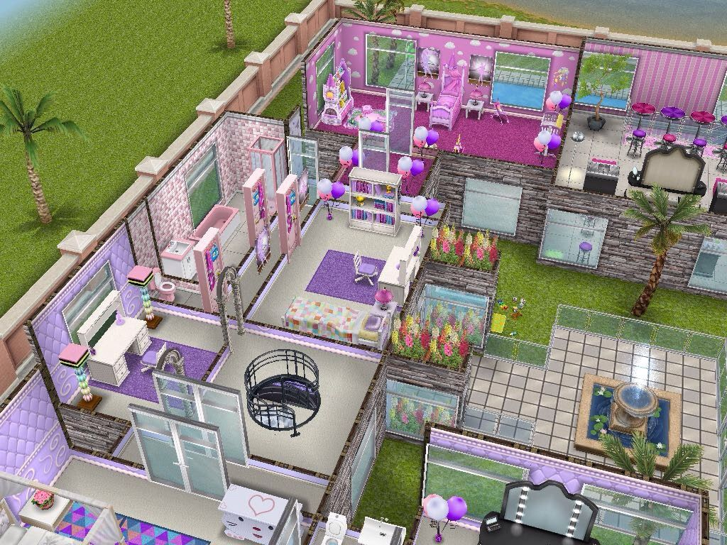 House 49 Barbies Dream House Re Design Level 2 Sims Simsfreeplay Simshousedesign Sims House Design Sims House Sims Freeplay Houses