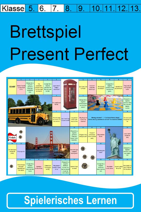 Brettspiel zum Present Perfect für die 6. / 7. Klasse - Mit ...