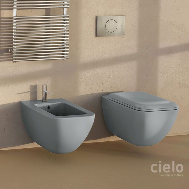 Ceramica Cielo Le Giare Prezzi.Wall Hung Wc Colored Basalto Shui Comfort Water Closet