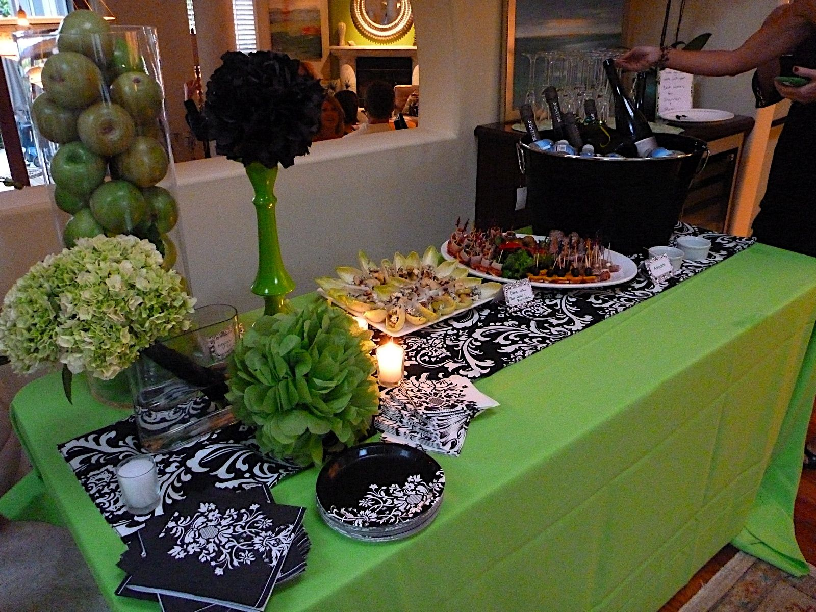 Green And Black Wedding Decorations