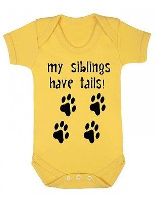 My Siblings Have Tails New Baby Grow Suit Infant Newborn Onesie