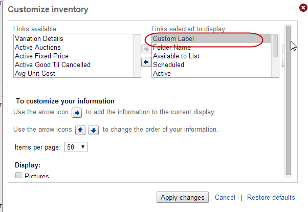 How To Add And Use The Custom Label Field On Ebay For Skus