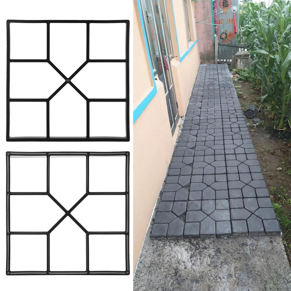 Walk Maker Mould,Pavement Stone Mold Paving Concrete Mould Stepping Stone Mold Garden Lawn Pathmate Stone Mold