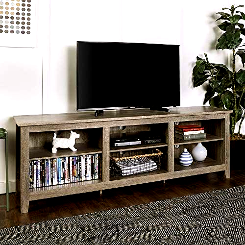 Beautiful New 70 Inch Wide Driftwood Finish Television Stand In