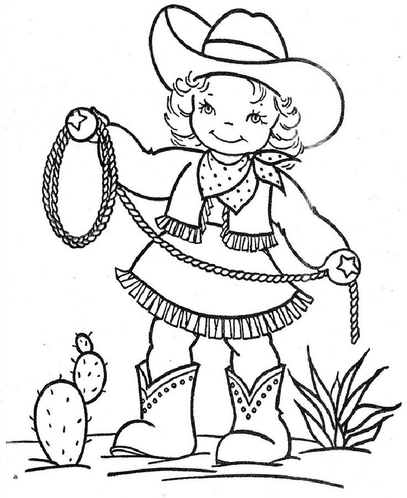 Cowgirl Coloring Pages For All Cartoon Lovers Educative Printable Vintage Coloring Books Coloring Books Coloring Pages