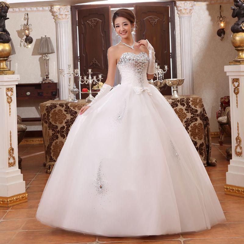 Robe de mariee princesse strass
