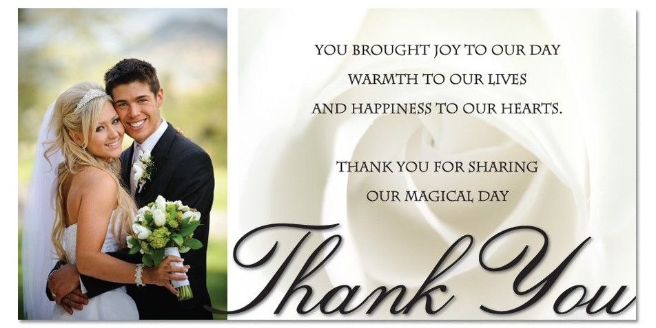 thanks for wedding gift - Google Search backyard wedding - wedding thank you note