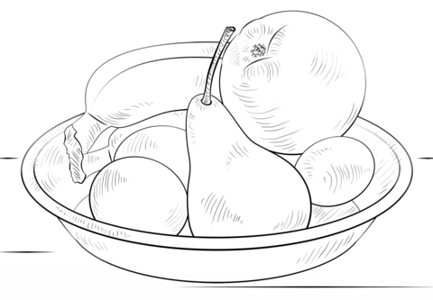 Disegni Da Colorare Natura Morta Frutta.Bowl Of Fruits Coloring Page From Apples Category Select From 26736 Printable Crafts Of Cartoons Nature Anima In 2020 Fruits Drawing Fruit Bowl Drawing Fruit Sketch
