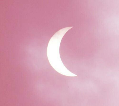 Pastel Pink Crescent Moon Pink Aesthetic Pink Moon Pink Sky