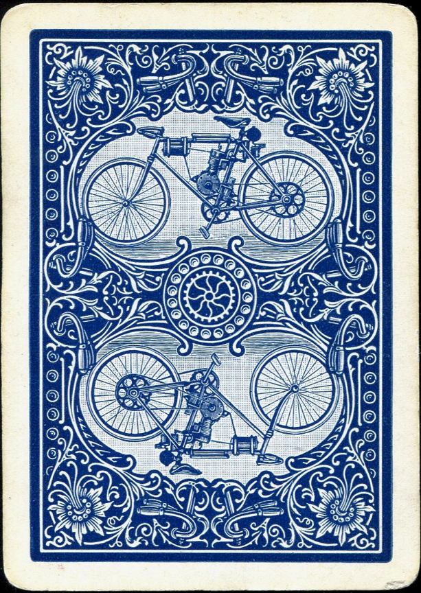 Bicycle No 808 Motorcycle No 1 1901 Bicycle Playing