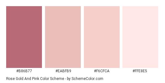 Rose Gold And Pink Color Scheme Pink Schemecolor Com Rose Gold Color Palette Color Palette Pink Pantone Colour Palettes