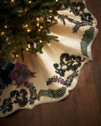 Masquerade Christmas Tree Skirt By Kim Seybert At Horchow