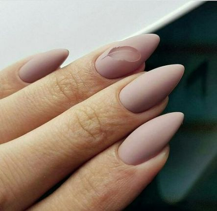nails almond matte design negative space 27 ideas  matte