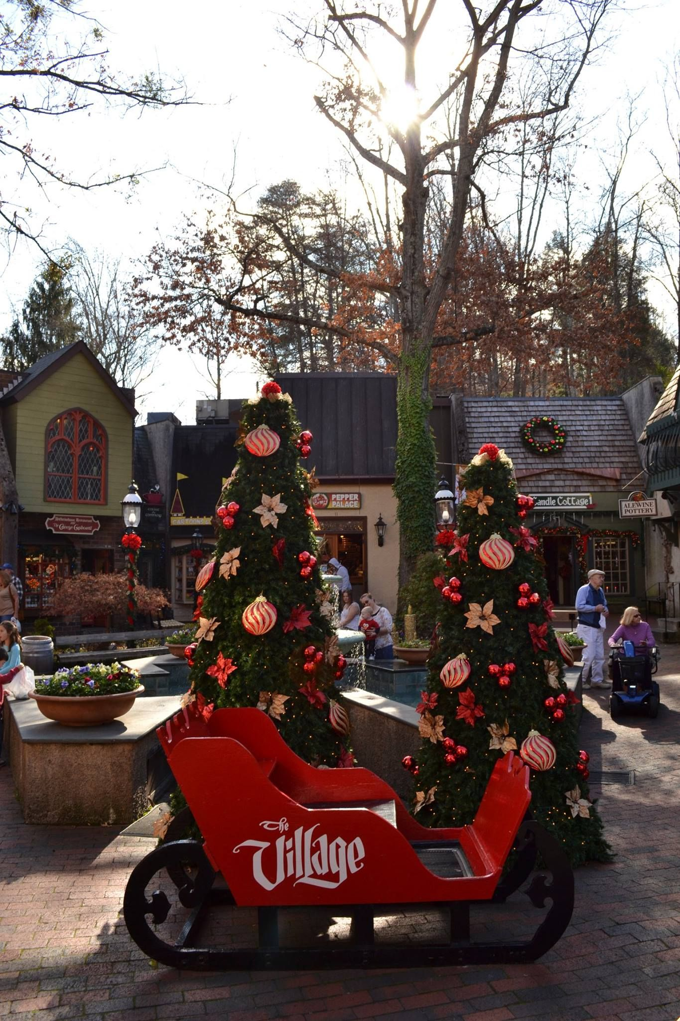 the village in gatlinburg decorated for the christmas season - When Does Gatlinburg Decorate For Christmas