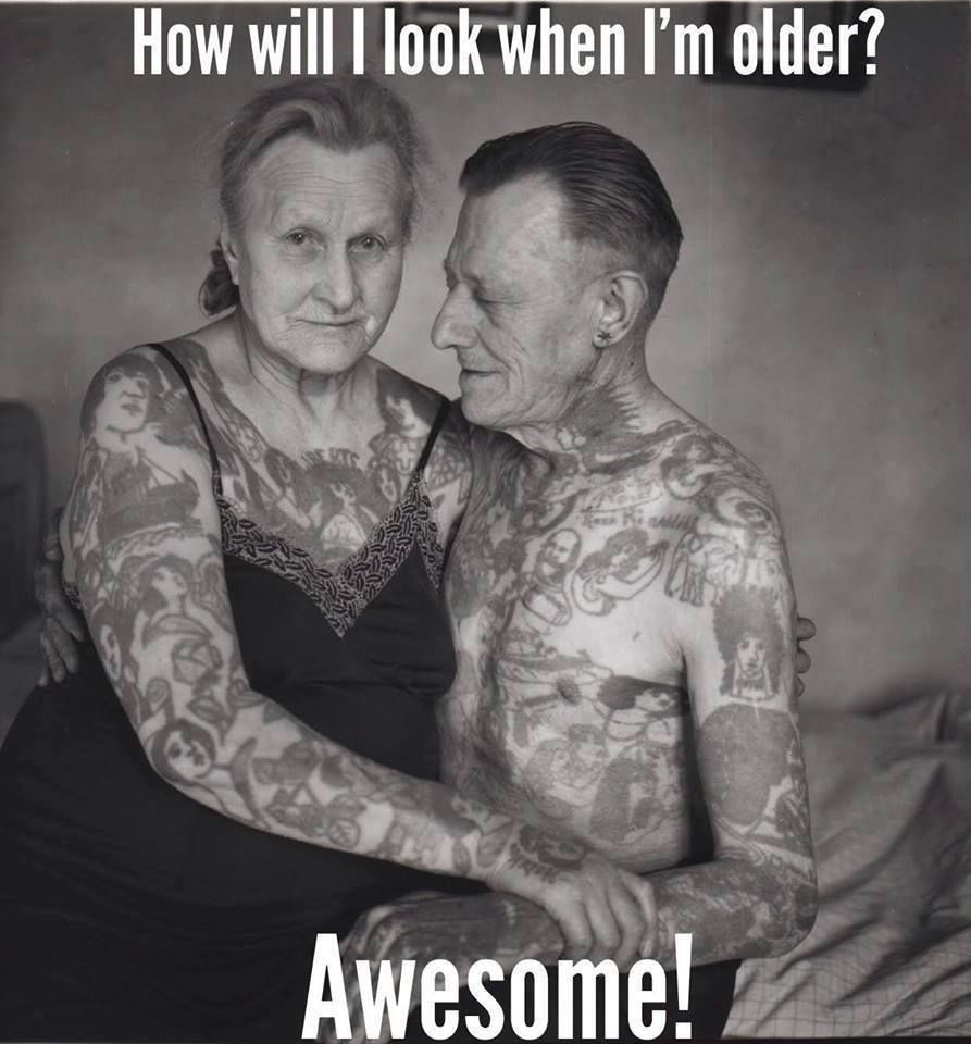 How will my tattoos look when im older awesome