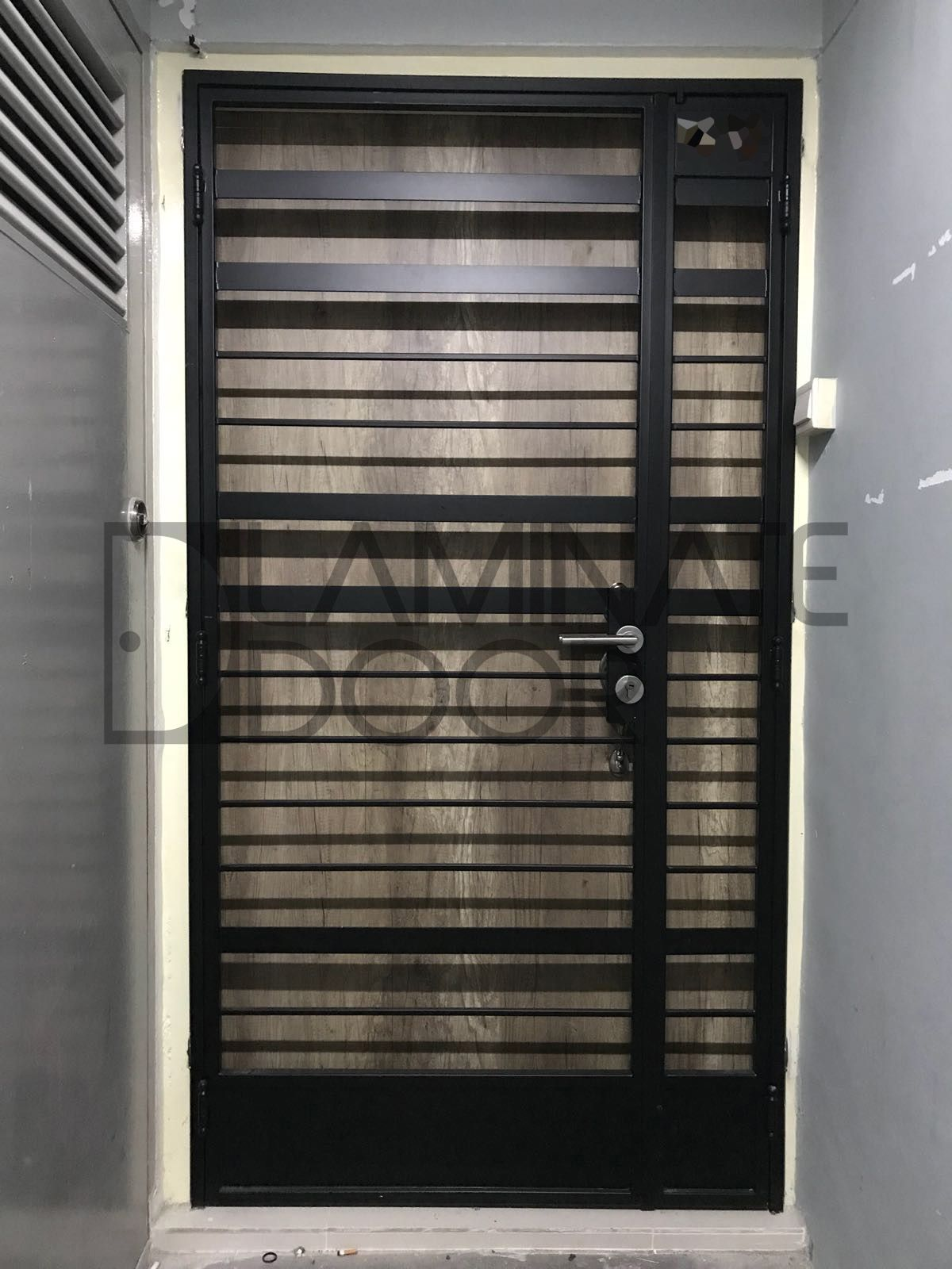 Latest Design Of Hdb Bto Mild Steel Gate 3x7ft Gate At 680 And 4x7ft Gate At 780 Call 85220015 Ask For More Des Laminate Doors Door Gate Design Gate Design