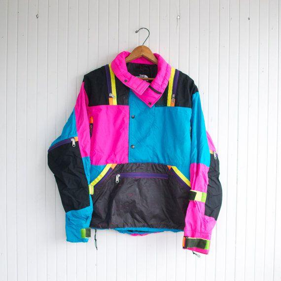 2568fe109 Vintage 80s Neon North Face Ski Jacket - M   Vintage North Face by ...