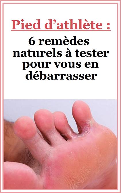 pied athlete traitement naturel