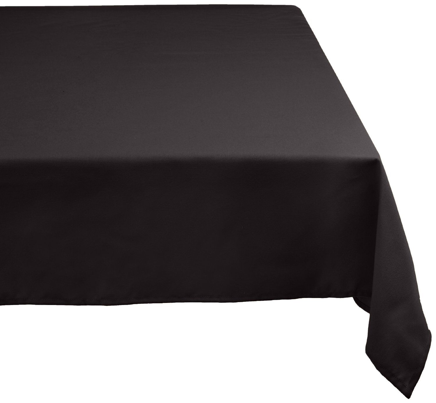 Amazon.com   DII 100% Polyester, Machine Washable Tablecloth Black 52x70,  60x104