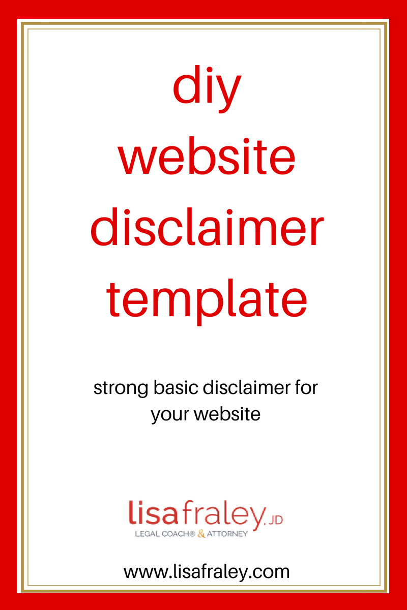 This Disclaimer Template Is A Strong Basic Disclaimer For Your Website Repin And Shop Templates Here Legal Templates Legal Te Diy Website Website Templates