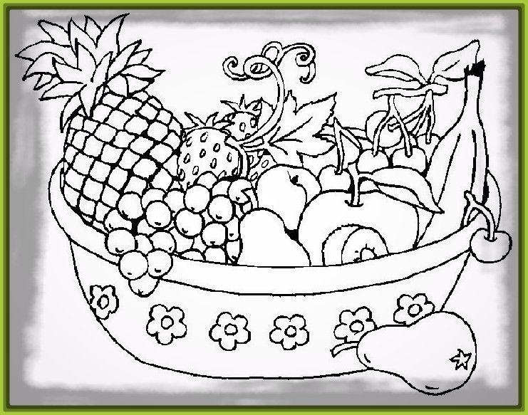 Image Result For Cesta De Frutas Para Colorear Pinturas T