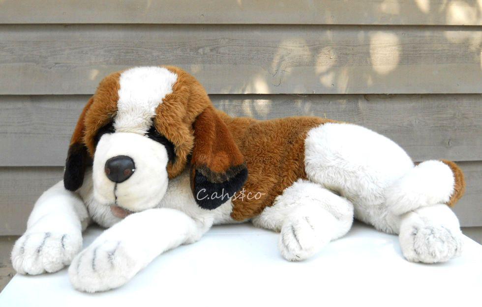 Jumbo St Bernard Dog 39 Long Realistic Life Size Soft Large But