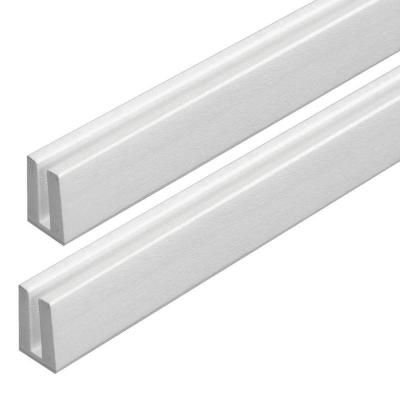 Veranda 4 Ft White Vinyl Lattice Cap Moulding 73004058 The Home Depot Decorative Screen Panels White Vinyl Lattice
