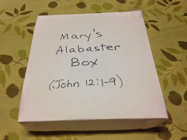 Lesson Mary And The Alabaster Box Alabaster Box Bible Lessons