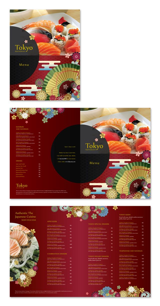 Japanese sushi restaurant menu template impressos pinterest japanese sushi restaurant menu template pronofoot35fo Choice Image