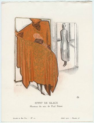 Effet De Glace Manteau Du Soir De Paul Poiret Plate 78 From Gazette Du Bon Ton Volume 2 No 10 Paul Poiret Art Kiki De Montparnasse