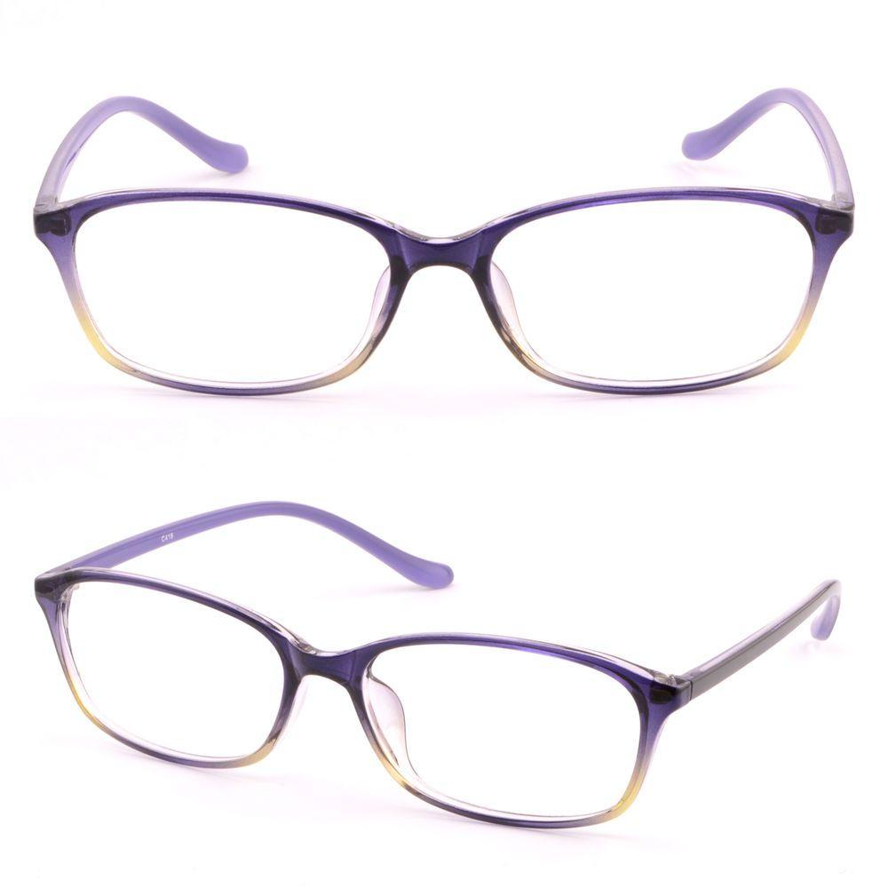 820896be2763 Rectangular Women Plastic Frame Flexible Prescription Glasses Sunglasses  Purple  Unbranded