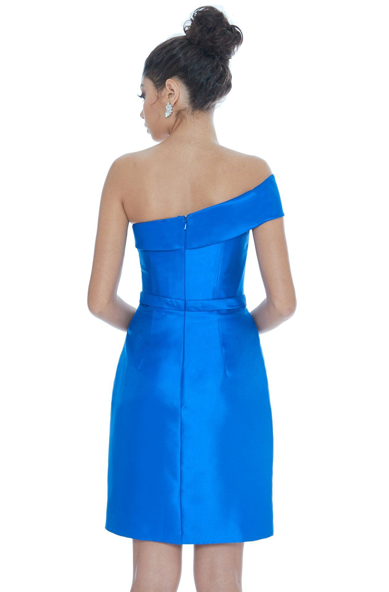 Ashley Lauren 4215 One Shoulder Column Cocktail Dress