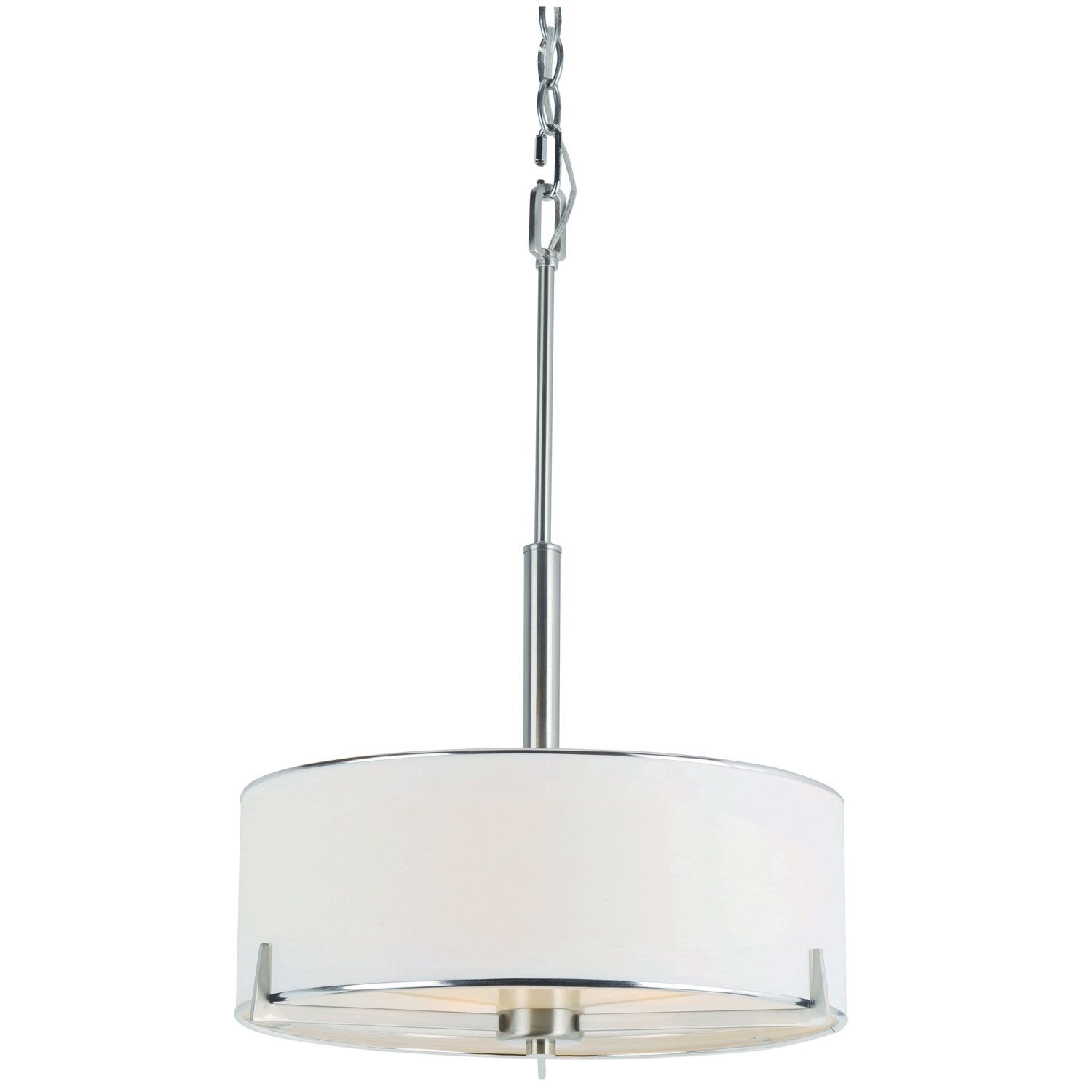 Trans Globe Lighting Cadence Three Light Pendant Brushed Nickel