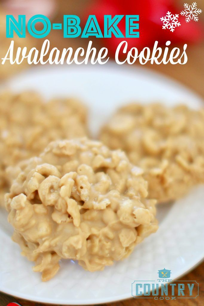 No Bake Avalanche Cookies Are Made With Rice Krispies Honey Nut
