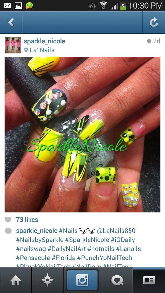 Yellow nails | Jamaica Prep | Pinterest | Yellow nails and Make up