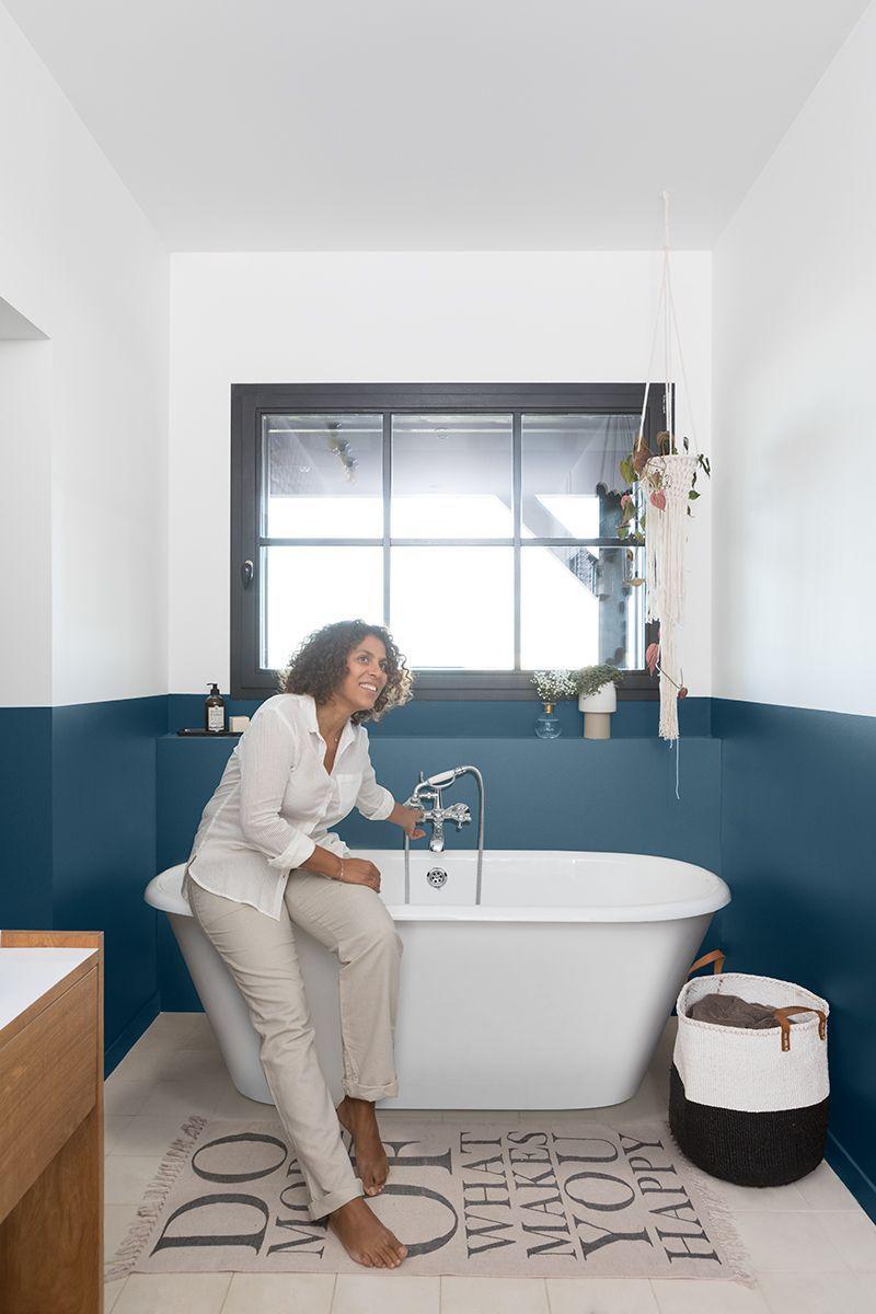 Peinture Carrelage Salle De Bain V33 2021 En 2020 Deco Salle De Bain Bleue Carrelage Salle De Bain Salle De Bain