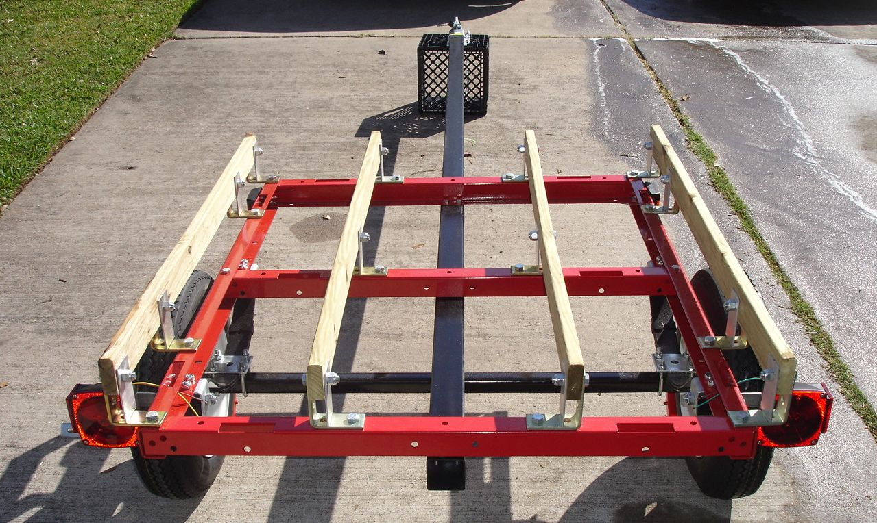 Kayak and canoe trailer projects harbor freight utility for Outboard motor dolly harbor freight