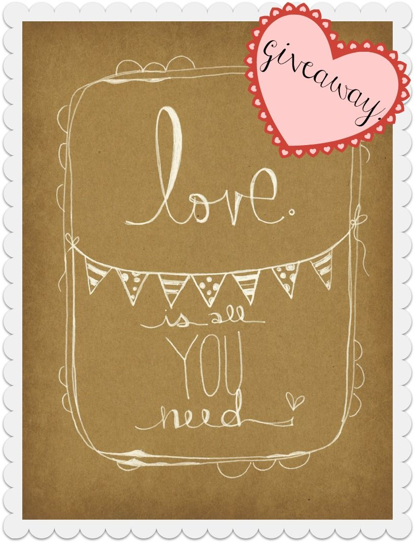 love is all you need. yes. :: enter to win this hand illustrated moleskine on my blog this weekend! (just click the image to head over to my blog to enter)